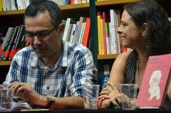 Xabier López y Yanet Acosta en la presentación en Vigo de Noches sin Sexo