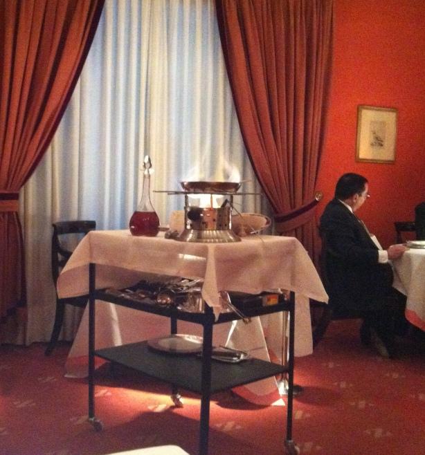 Sala del restaurante Zalacaín en Madrid. Foto El Chef ha muerto