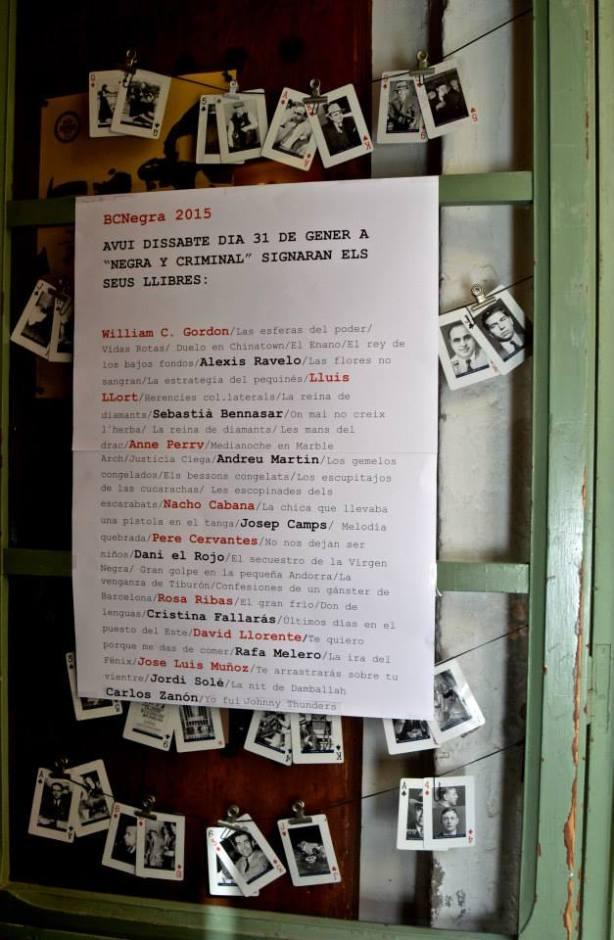 La puerta de Negra y Criminal. BCNegra. Foto:  Laura Muñoz Hermida